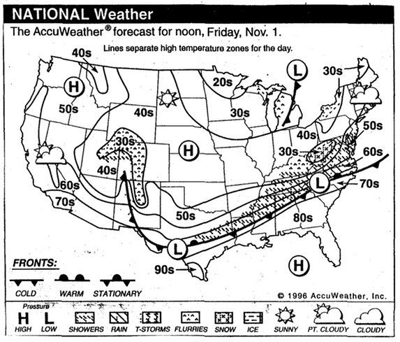 Marge Peterson Day 5 Weather Map