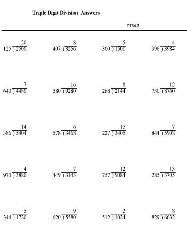 Math Long Division Worksheets Worksheets For All