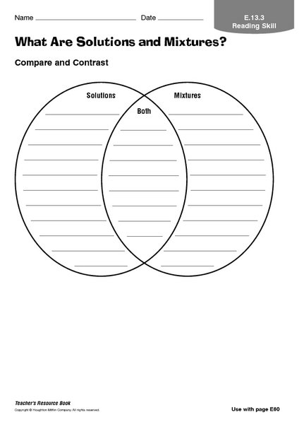 Mixtures And Solutions Worksheets Worksheets For All