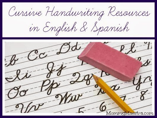Mommy Maestra  Cursive Learning Resources In English And Spanish