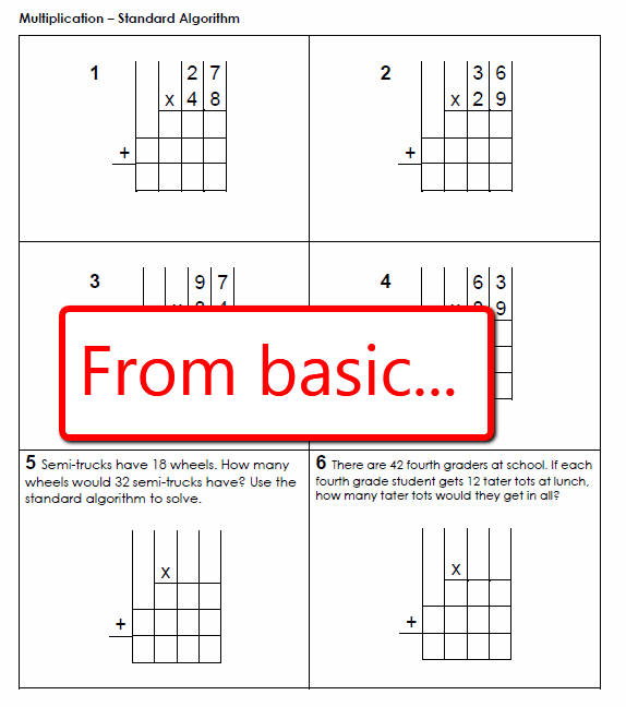 Multiply Using Partial Products 4th Grade Worksheets Worksheets