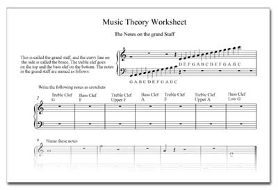Music Theory Worksheets For Kids Worksheets For All