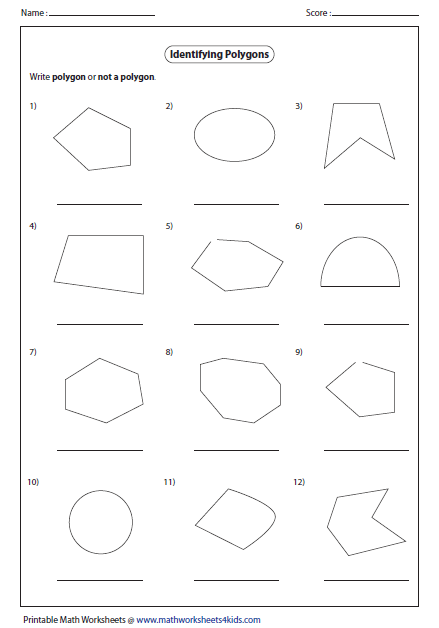 Name The Polygon Worksheet Free Worksheets Library