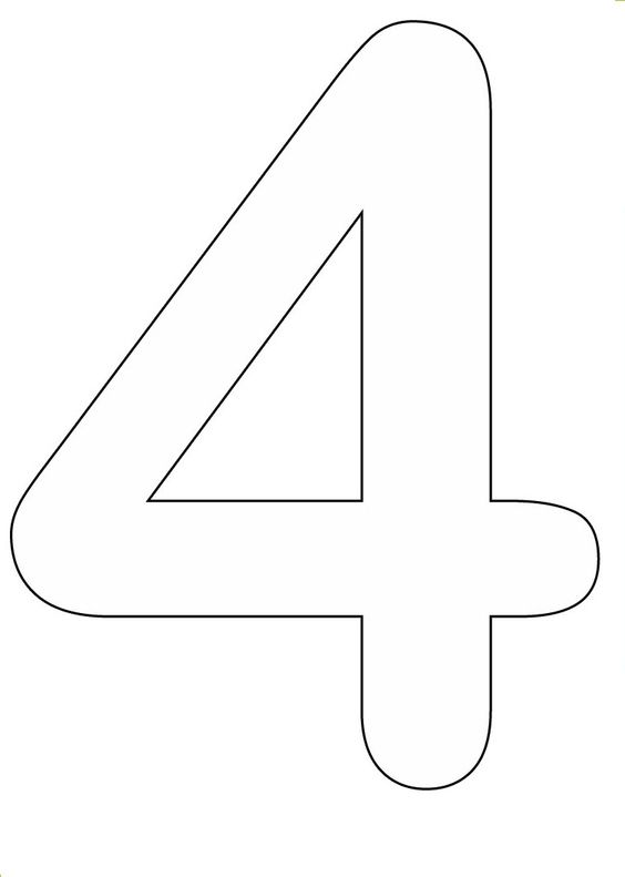 Number 4 Coloring Pages Number Names Worksheets Coloring Pages