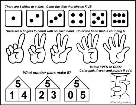 Number Bonds To 5 Free Math Worksheets