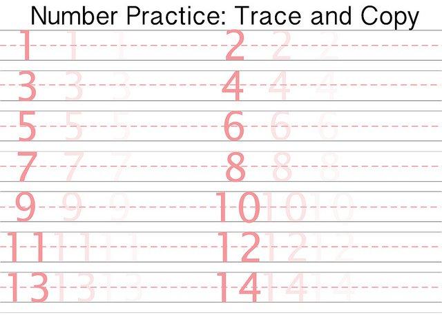 Number Writing Practice Worksheets For Kindergarten Worksheets For
