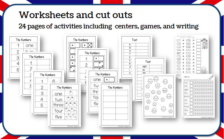 Numbers 1 10 Worksheet English, Numbers Worksheet