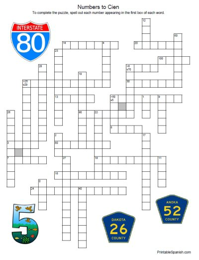 Numbers Puzzle 3 – Printable Spanish