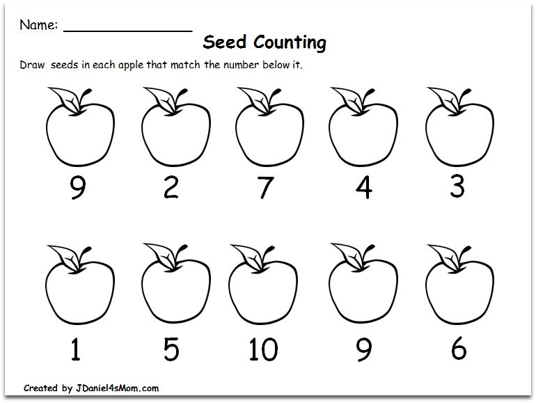 Numbers To 10 Worksheets Worksheets For All