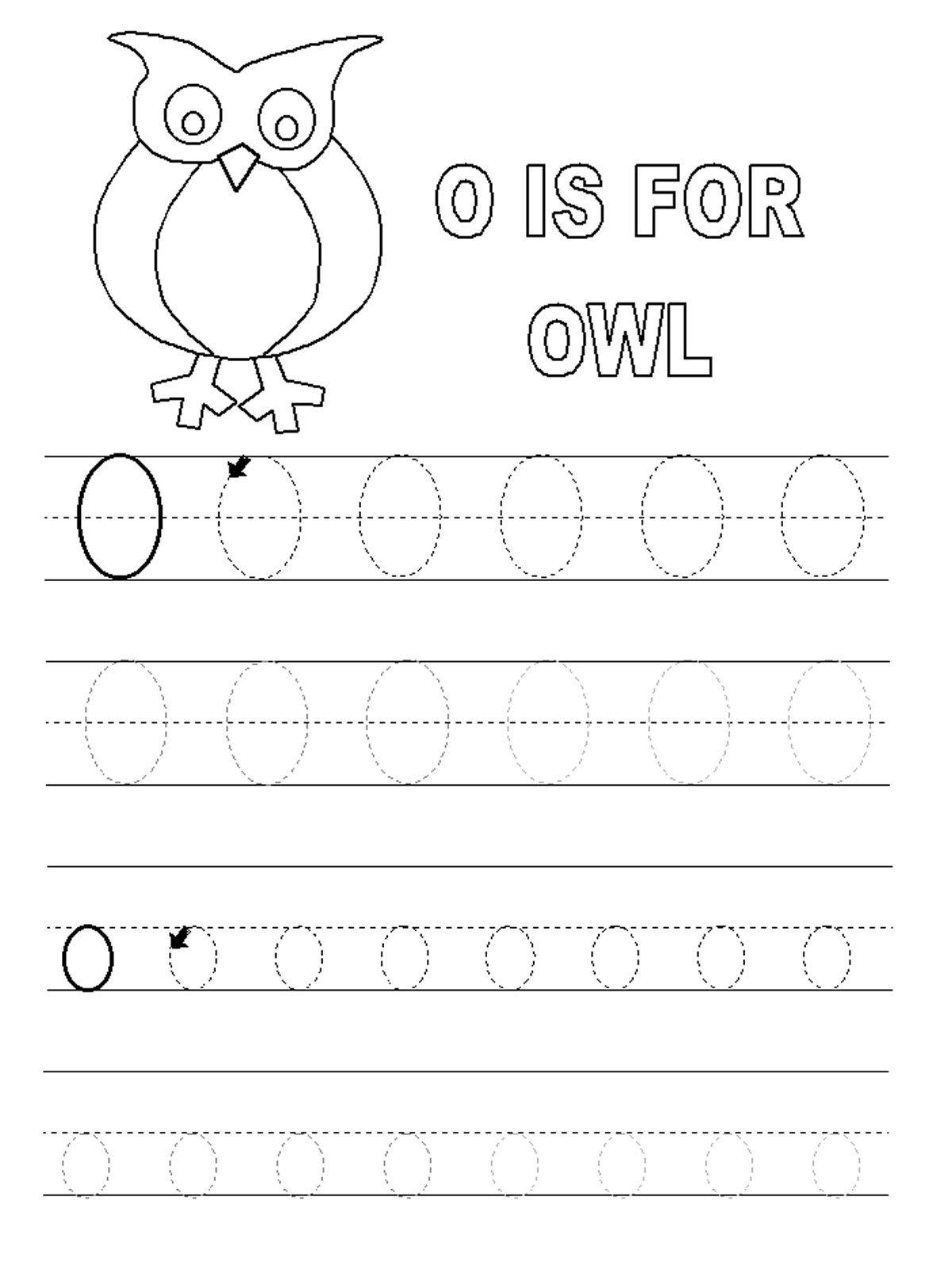 O Printable Worksheets Preschool Letter O Worksheets