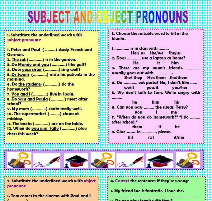 & Object Pronouns