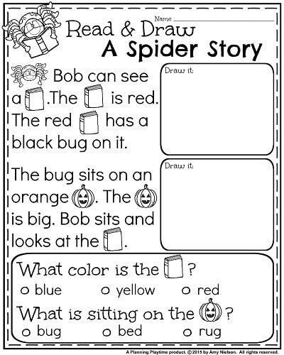 October Kindergarten Worksheets