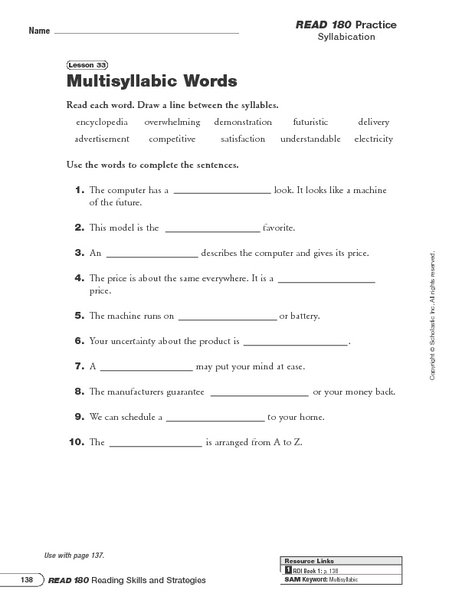 Open Syllable Worksheets Free Worksheets Library