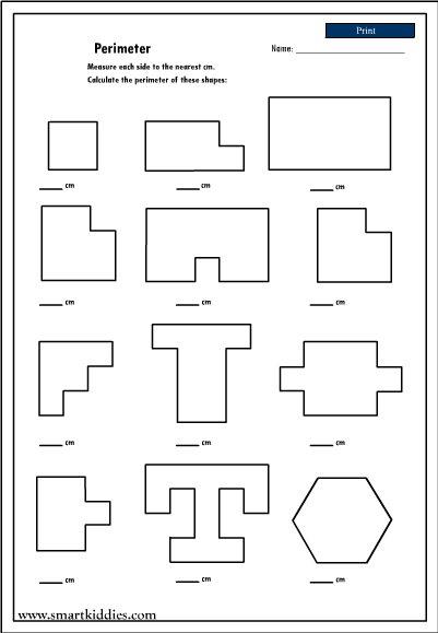 Perimeter Of Shapes Worksheets