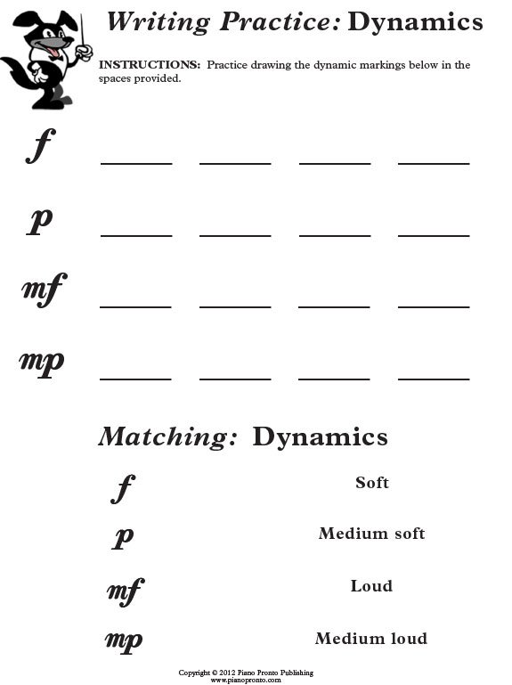 Beginner Music Theory Worksheets