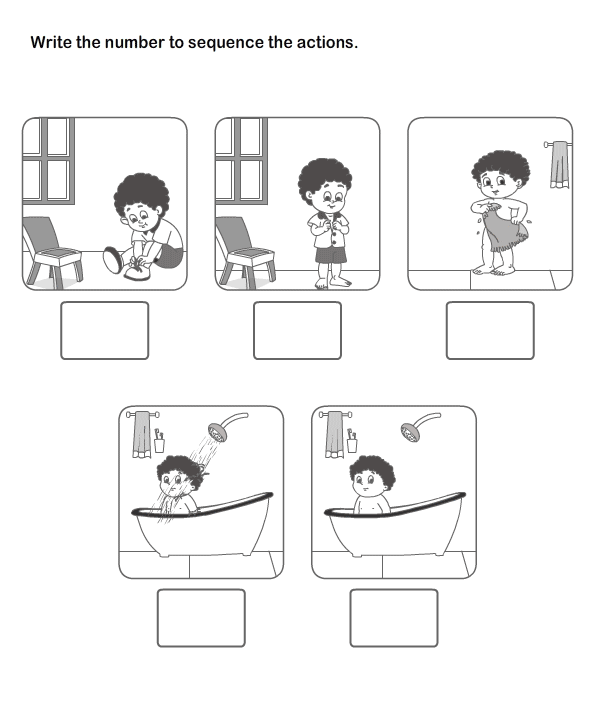 Picture Sequence Learning, Arrange Series Of Pictures, Picture
