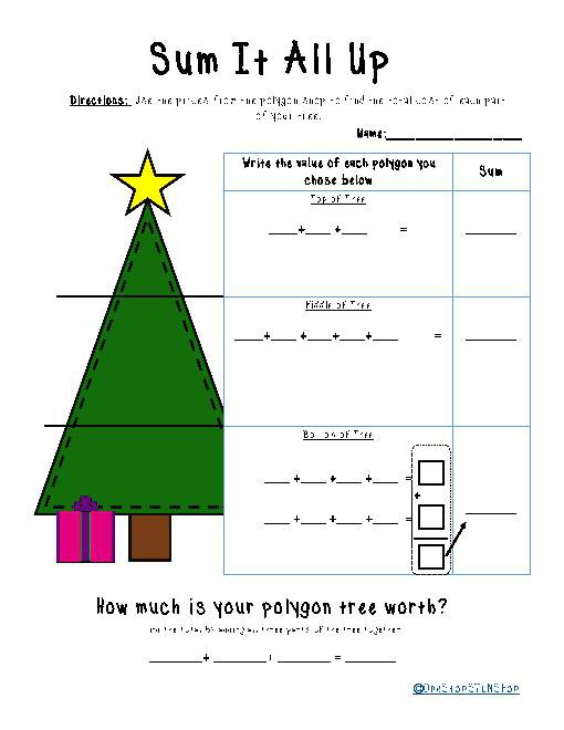 Polygon Christmas Tree  A Money And Geometry Activity