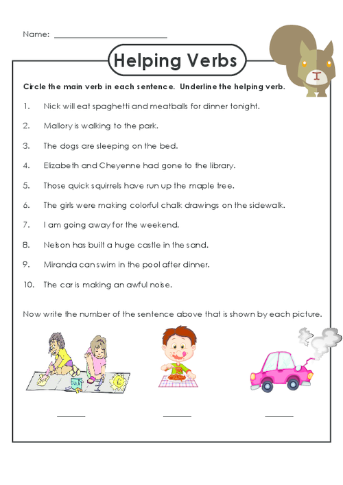 Practice Identifying Helping Verbs With This Free Worksheet