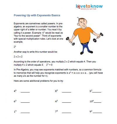 Pre Algebra Printable Worksheets