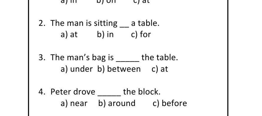 Preposition Worksheets For Grade 4 Worksheets For All