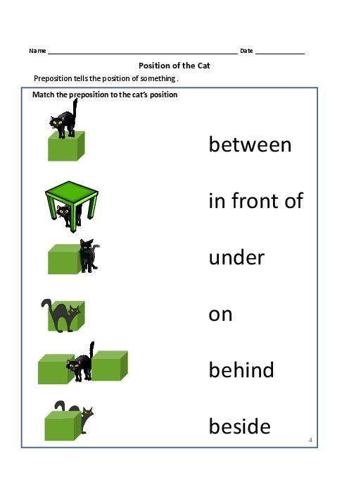 Preposition Worksheets For Kindergarten Switchconf Preposition For