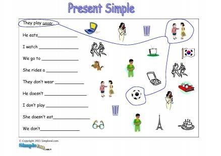 Present Simple Exercises For Kids