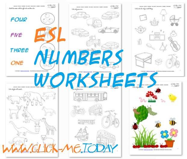 Printable Esl Numbers Worksheets & Esl Activities