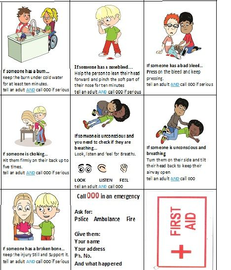 Printable First Aid Worksheets For Kids Worksheets For All