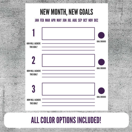Printable Goal Setting Worksheet Goals Goal Tracker Plan