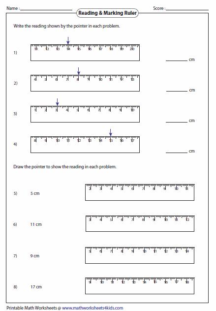 Printables  Ruler Measurements Worksheets  Agariohi Worksheets