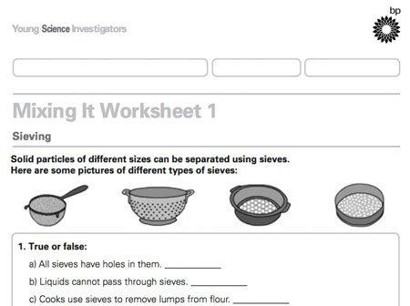 Printables  Separating Mixtures Worksheet  Kigose Thousands Of