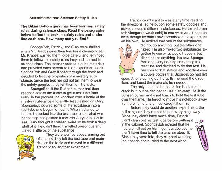 Printables  Spongebob Science Worksheet  Agariohi Worksheets