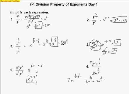 Properties Of Exponents, Properties Of Exponents Worksheet