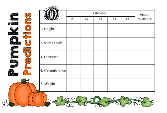 Pumpkin Measurement Clipart