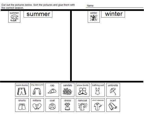 Resultado De Imagen De Summer Clothes Activities For Preschoolers