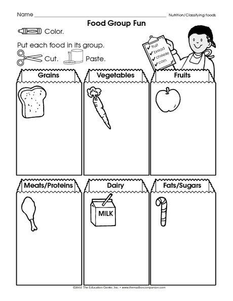 Resultado De Imagen Para Food Worksheets For Kindergarten