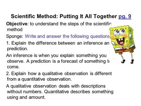 """Science 9 4 13 """"the Scientific Method """"controls And Variables"""