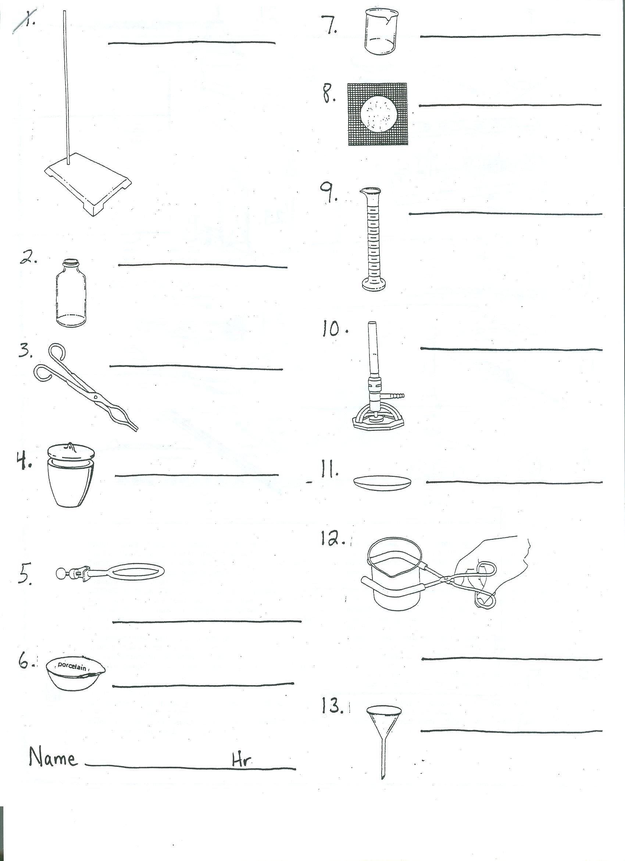 Science Equipment Worksheet  Science  Best Free Printable Worksheets