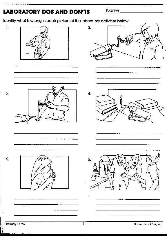 Science Safety Worksheet