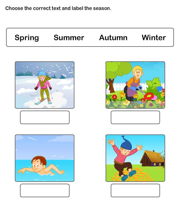 Seasons Worksheet 4