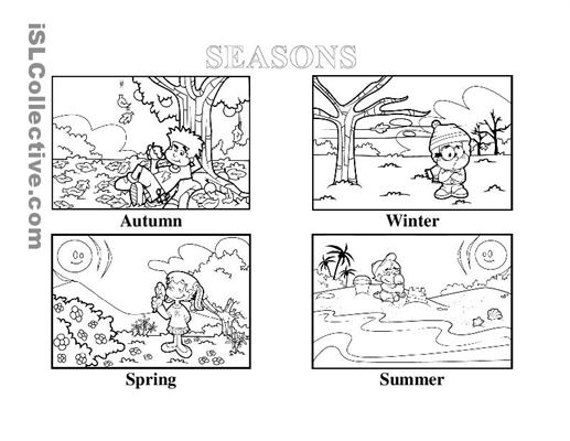 Seasons Worksheets For Worksheets For All