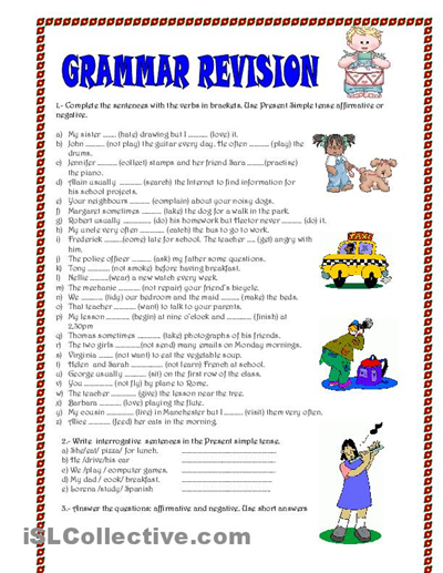 Sentence Correction Worksheets