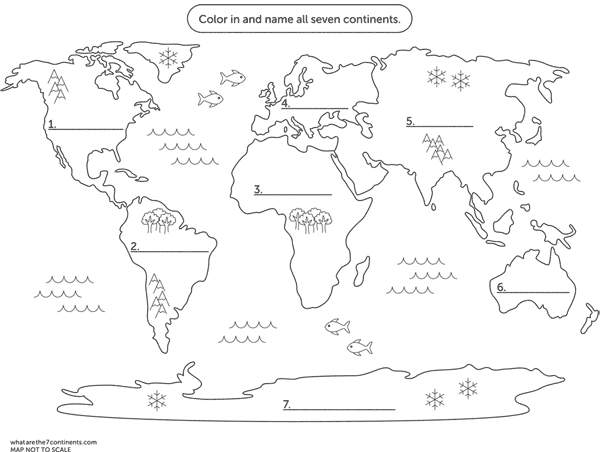 Seven Continents Worksheet Worksheets For All