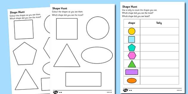 Shape Hunt Worksheet