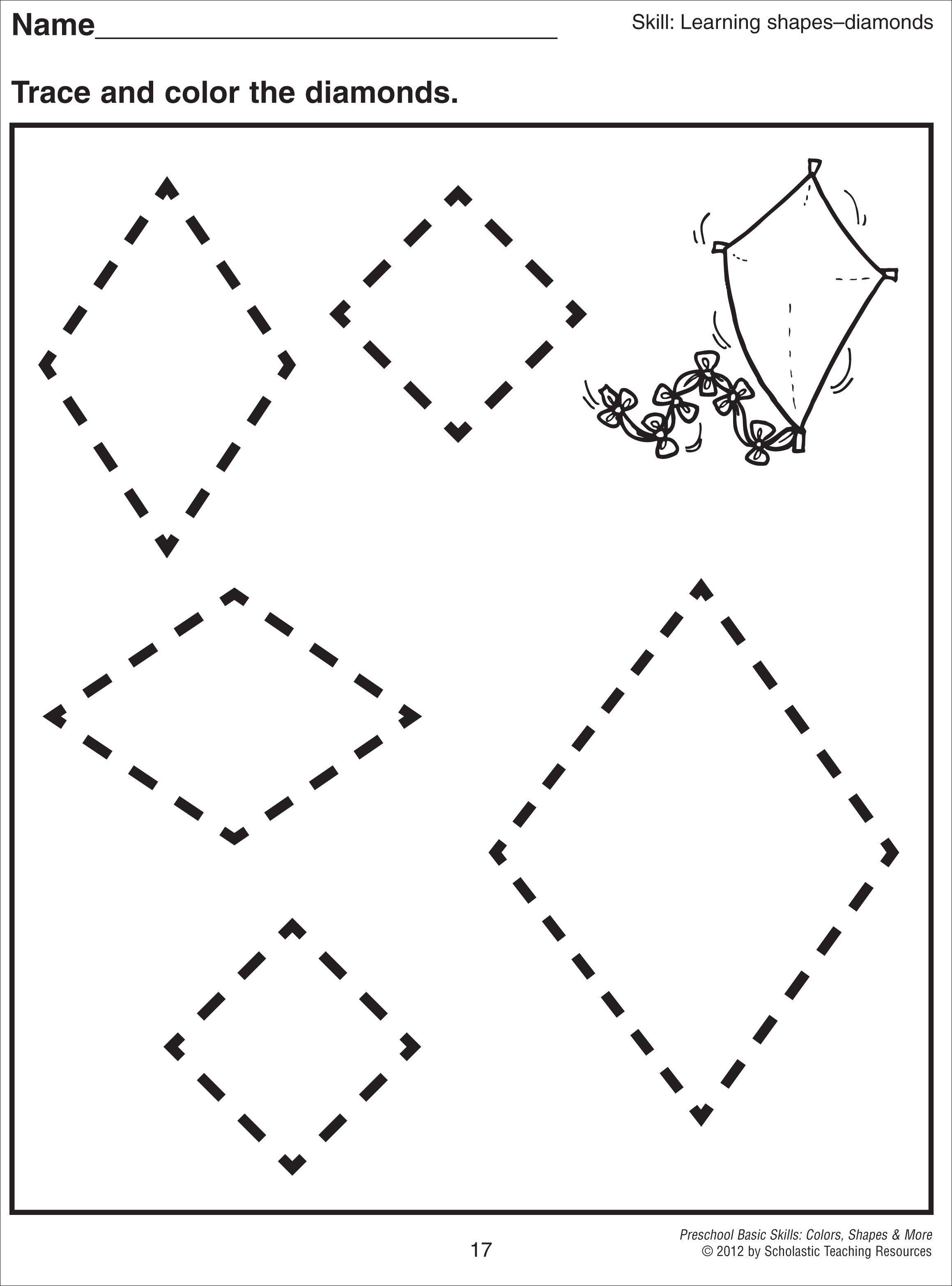 Shapessheet For Kindergarten Geometric Shapesheets Shapes