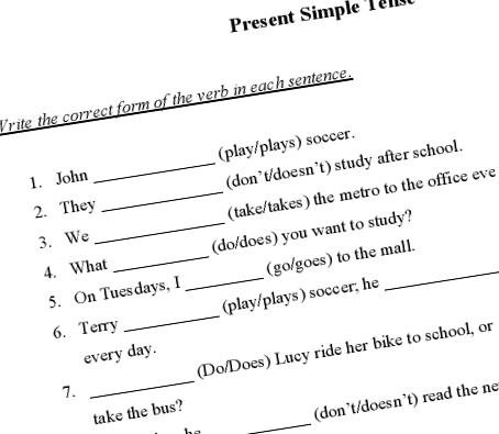 Simple Printable Worksheet