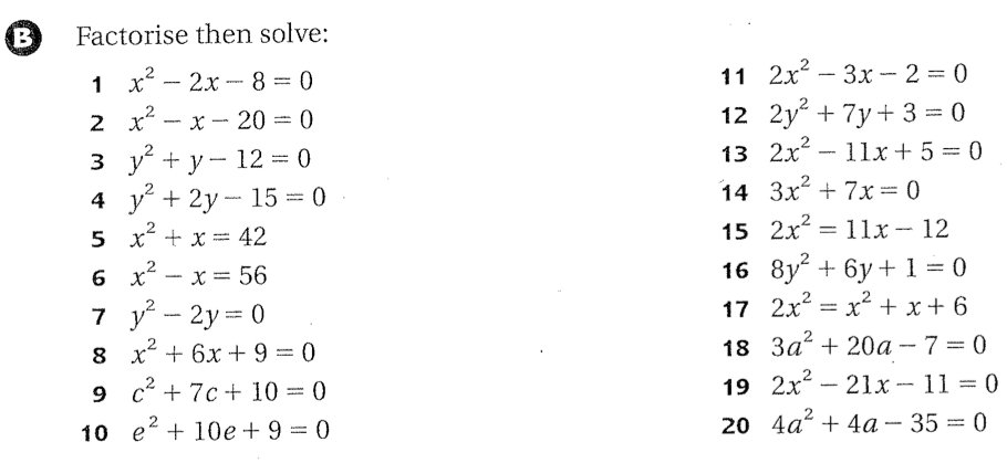 Solve Quadratics By Factoring Worksheet Free Worksheets Library
