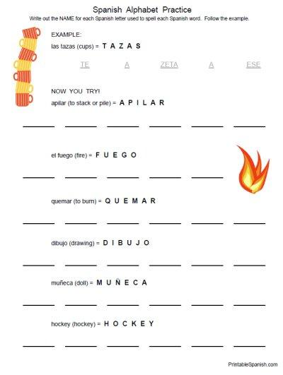 Spanish Alphabet Worksheet Free Worksheets Library