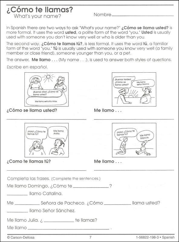 Spanish Colors Worksheet High School