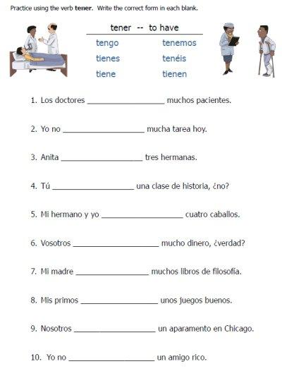 Spanish Verb Conjugation Worksheets Worksheets For All
